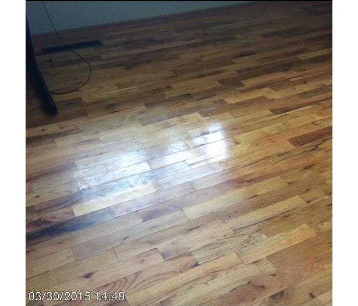 Water damaged hardwood floor