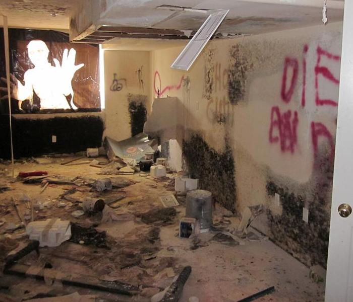 Mold, Vandalism, Water Damage Restoration Spokane Before